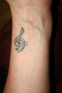 My music tattoo.